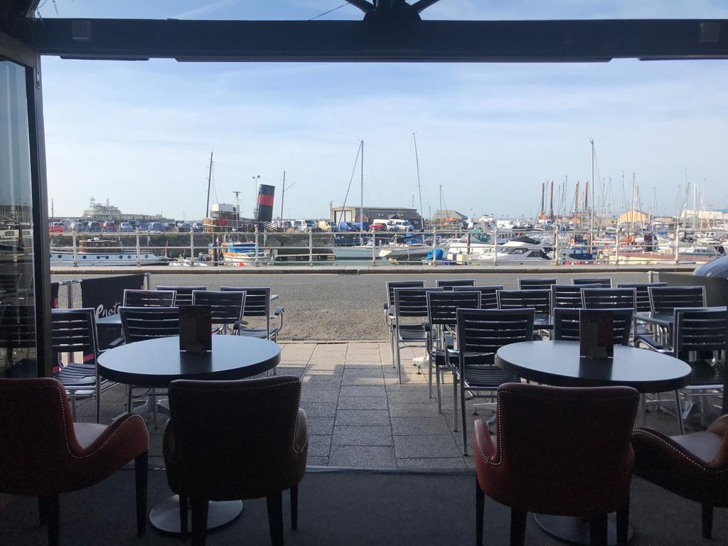 Enoteca Bar Ramsgate view overlooking harbour wide