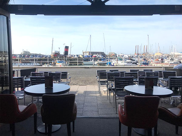 Ramsgate Harbour view from Enoteca 2